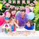 VSTON Joyeux anniversaire décorations fournitures de fête Bunting bannière papier de soie Pom papier rose fleurs guirlande pour les filles en papier rose Rainbow Paper de la marque VSTON image 3 produit
