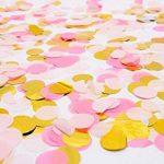 VSTON Joyeux anniversaire décorations fournitures de fête Bunting bannière papier de soie Pom papier rose fleurs guirlande pour les filles en papier rose Rainbow Paper de la marque VSTON image 1 produit