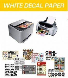 WATERSLIDE DECAL PAPER DÉCALQUE-PAPIER IMPRESSION LASER JET D'ENCRE & BASE WHITE 3 FEUILLES A4 de la marque MONDO DECAL image 0 produit
