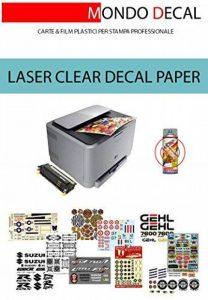Waterslide Decal Paper, papier pour en vinyle, impression Laser, Base Clear, 3feuilles A4Ne nécessite pas de Cover-coat de la marque MONDO DECAL image 0 produit