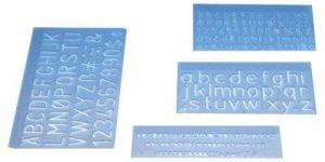 Wedo 07012 Kit trace-lettres avec 3 hauteurs de caractère 5 mm/10 mm/20mm - Pack de 4 de la marque Wedo image 0 produit