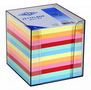 Wedo 2702651 Cube-mémo en plastique 9 x 9 cm Colorés Transparent fumé de la marque Werner Dorsh (WEDO) image 0 produit
