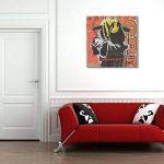 weewado Un hommage à Banksy`s Mort Grim Smiley sur carton - 30x30 cm - Impression sur toile - Art mural - Art de la marque weewado image 1 produit