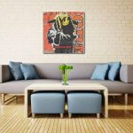 weewado Un hommage à Banksy`s Mort Grim Smiley sur carton - 30x30 cm - Impression sur toile - Art mural - Art de la marque weewado image 4 produit
