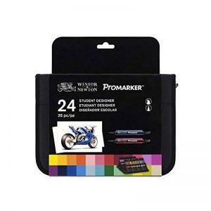 Winsor & Newton Promarker Trousse de 24 Marqueurs Coloris Assortis de la marque Winsor & Newton image 0 produit