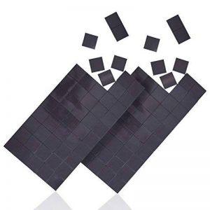 WINTEX 100 plaquettes magnétique adhésives 20 mm x 20 mm x 1,2 mm, autoadhésives, forte adhérence, en noir avec 2 ans de garantie satisfaction de la marque WINTEX image 0 produit