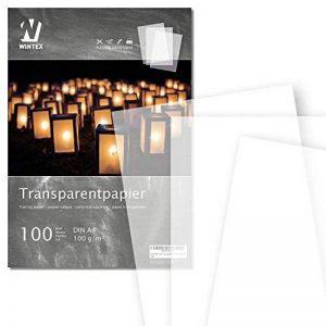 WINTEX papier calque (100 feuilles) DIN A4 100 g/m2 | avec 2 ans de garantie de satisfaction | feuilles de papier transparent de la marque image 0 produit