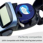 Wonfoucs 5 Rubans Compatible pour Dymo LetraTag 91201 91202 91203 91204 91205 Plastique Étiquettes, 12mm x 4m, Noir sur Blanc / Rouge / Jaune / Bleu / Vert Cassettes pour LT-110T LT-100H QX 50 XR XM de la marque Wonfoucs image 1 produit