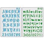 XDLink Lot de 12 Pochoir Chiffre et Letter Pochoir Alphabet Peinture Réutilisable Souple Majuscule Minuscule pour Scrapbooking Carte d'Anniversaire Décoration Murale de la marque XDLink image 2 produit