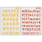 XDLink Lot de 12 Pochoir Chiffre et Letter Pochoir Alphabet Peinture Réutilisable Souple Majuscule Minuscule pour Scrapbooking Carte d'Anniversaire Décoration Murale de la marque XDLink image 3 produit