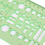 XDLink Lot de 6 Règle Géométrique Plastique Cercle Hexagone Carré Triangle Ovale pour Géographie Mathématiques Croquis Schémas Vert de la marque XDLink image 5 produit