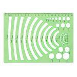 XDLink Lot de 6 Règle Géométrique Plastique Cercle Hexagone Carré Triangle Ovale pour Géographie Mathématiques Croquis Schémas Vert de la marque XDLink image 3 produit