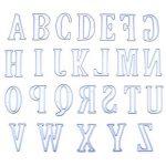 Xshuai 5cm Grande Big lettres de l'alphabet de coupe Dies Pochoirs en métal DIY Album de scrapbooking carte de papier craft leçons pour fête Décor Silver de la marque Xshuai image 2 produit