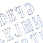 Xshuai 5cm Grande Big lettres de l'alphabet de coupe Dies Pochoirs en métal DIY Album de scrapbooking carte de papier craft leçons pour fête Décor Silver de la marque Xshuai image 3 produit