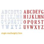 Xshuai 5cm Grande Big lettres de l'alphabet de coupe Dies Pochoirs en métal DIY Album de scrapbooking carte de papier craft leçons pour fête Décor Silver de la marque Xshuai image 1 produit