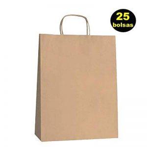 Yearol K01 25 sacs Papier Kraft avec poignées. 30 cm 22 cm 9 cm spécial pour cadeaux, commerce, achat, vente, travaux manuels, emballage, transport. de la marque Yearol image 0 produit