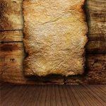YongFoto 1,5x2,2m Vinyle Toile de Fond Rayé en bois Stripe Plat Jaune Lettre Papier Temps Consommer Artistique Fond Décors Studio Photo Portrait Enfant Video Fete Mariage Photobooth Photographie Accesorios de la marque YongFoto image 1 produit