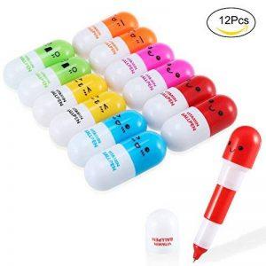 Yosemy [12 PCS] Mini Vitamine Pilule stylos à bille rétractables, cadeau babiole mignon rigolo - Multicolor de la marque Yosemy image 0 produit