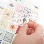 YPSelected Ensemble de 8 feuilles Étiquetage Paquet Floral Deco Stickers Papier autocollant Scrapbooking de la marque YPSelected image 1 produit
