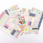 YPSelected Ensemble de 8 feuilles Étiquetage Paquet Floral Deco Stickers Papier autocollant Scrapbooking de la marque YPSelected image 4 produit