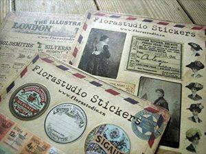 YPSelected Lot de 10 feuilles Autocollants vintages Déco Stickers Papier autocollant Scrapbooking de la marque YPSelected image 0 produit