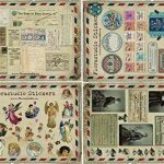 YPSelected Lot de 10 feuilles Autocollants vintages Déco Stickers Papier autocollant Scrapbooking de la marque YPSelected image 4 produit