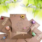ZeWoo Carte de Voeux, Rétro Kraft Fait à La Main, Enveloppes Vierges, Fleurs Séchées Carte Postale Décorée pour Une Personne Spéciale et Une Occasion Importante de la marque ZeWoo image 6 produit