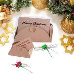 ZeWoo Carte de Voeux, Rétro Kraft Fait à La Main, Enveloppes Vierges, Fleurs Séchées Carte Postale Décorée pour Une Personne Spéciale et Une Occasion Importante de la marque ZeWoo image 4 produit