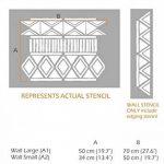 ZULU Meubles Mur Sol Pochoir Pour Peinture - Meubles Petit de la marque Dizzy Duck Designs image 1 produit